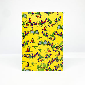 Lorikeets - Red Parka Card