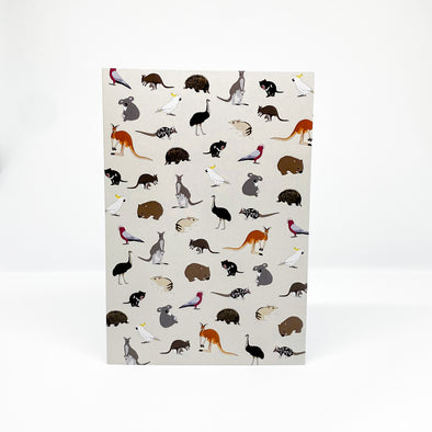 Aussie Animals - Red Parka Card
