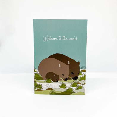 Wombat Baby - Red Parka Card