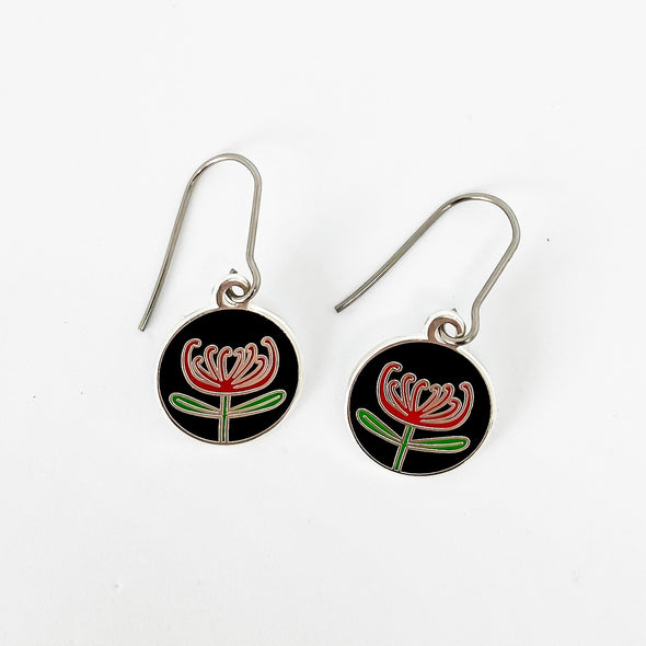 Waratah earrings (TJF)