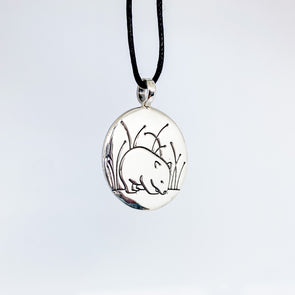 Wombat Pendant - Sterling Silver
