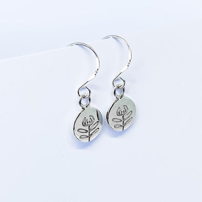 Tasmanian Waratah Dangly Earrings (TJF)