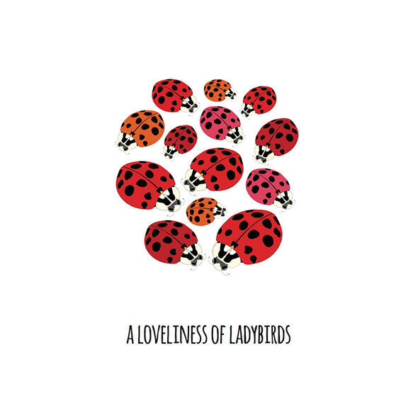 A Loveliness of Ladybirds Art Print