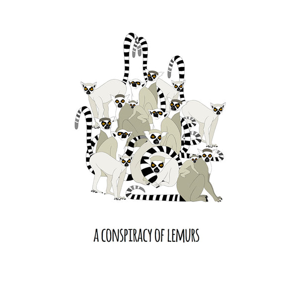 A Conspiracy of Lemurs Art Print
