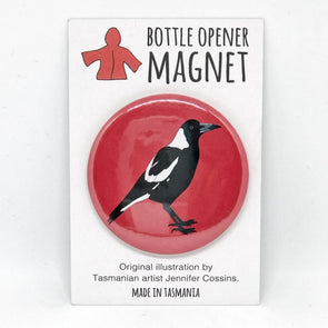 Magpie Bottle Opener Magnet