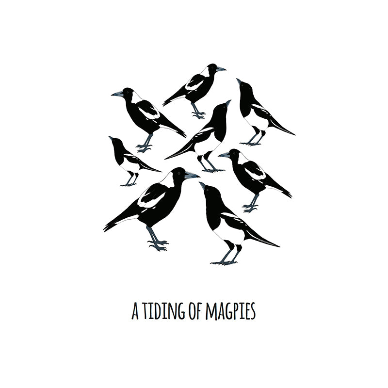 RP - A Tiding of Magpies Art Print