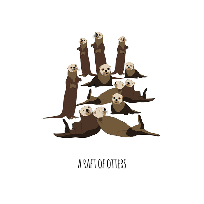 RP - A Raft of Otters Art Print