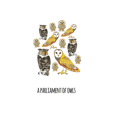 A Parliament of Owls Art Print