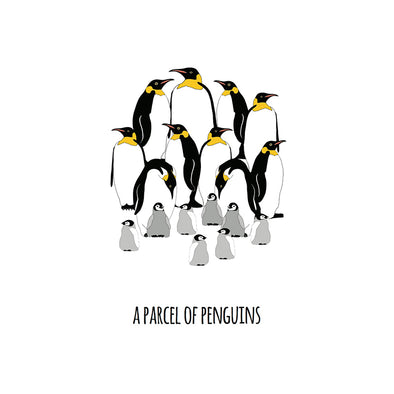 A Parcel of Penguins Art Print