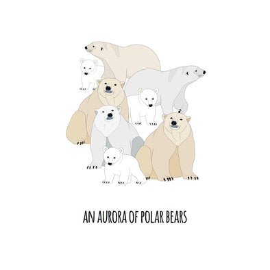 An Aurora of Polar Bears Art Print