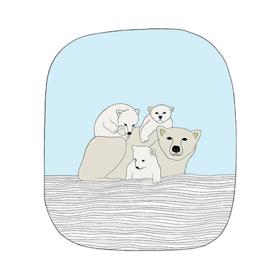 Baby Polar Bear Art Print