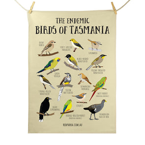 Endemic Birds of Tasmania Tea Towel