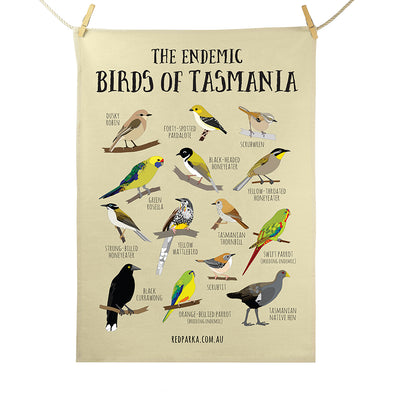 Tea Towel - Endemic Birds of Tasmania