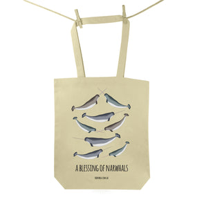 Blessing of Narwhals Tote Bag