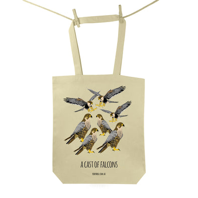 Cast of Falcons Tote Bag