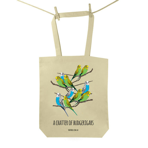 Chatter of Budgerigars Tote Bag