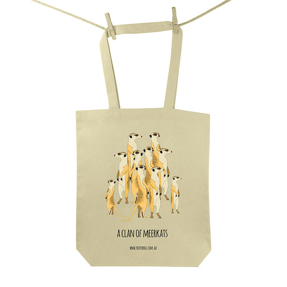 Clan of Meerkats Tote Bag