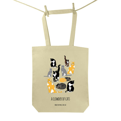 Clowder of Cats Tote Bag