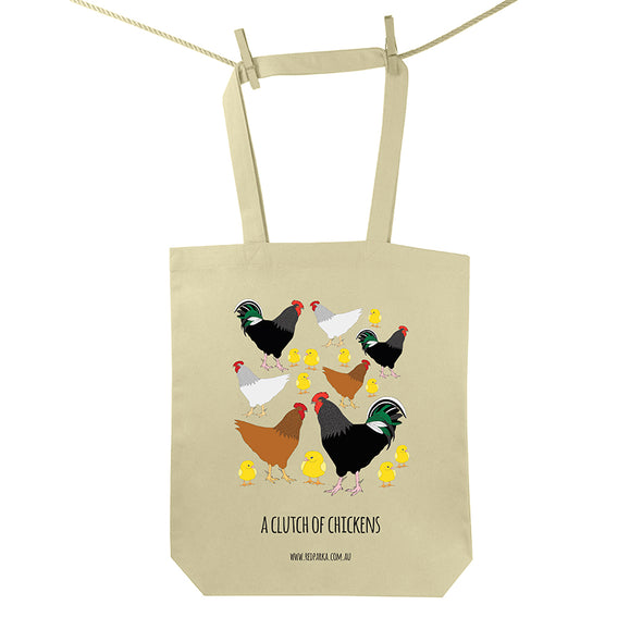 Clutch of Chickens Tote Bag