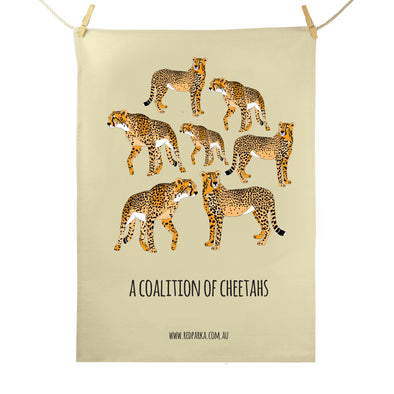 Coalition of Cheetahs Tea Towel