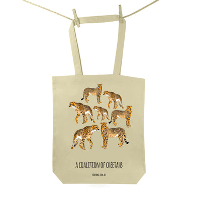 Coalition of Cheetahs Tote Bag