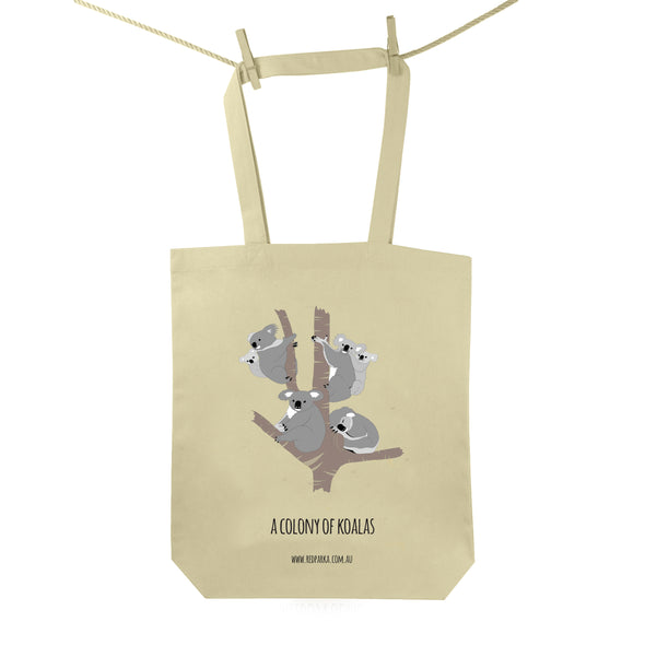 Colony of Koalas Tote Bag