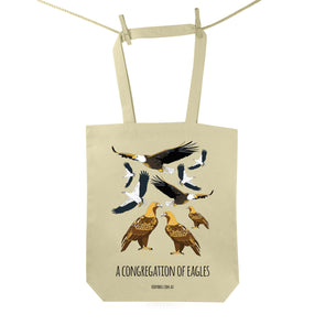 Congregation of Eagles Tote Bag
