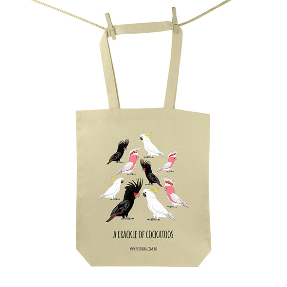 Crackle of Cockatoos Tote Bag