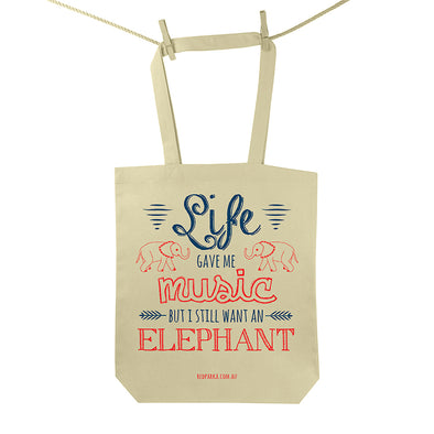 Music Elephant Tote Bag