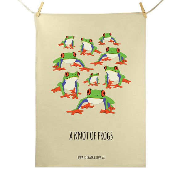Knot of Frogs Tea Towel