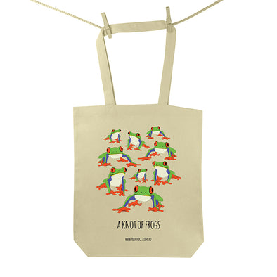Knot of Frogs Tote Bag