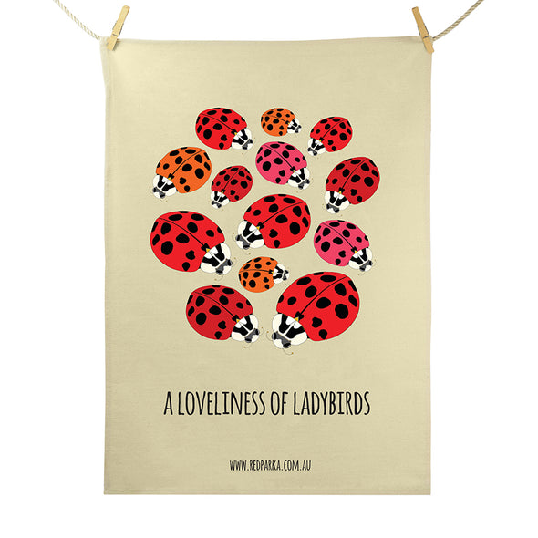 Loveliness of Ladybirds Tea Towel