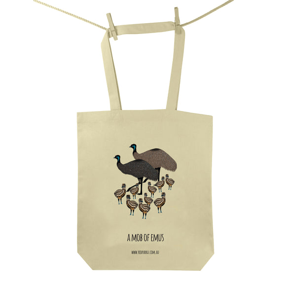 Mob of Emus Tote Bag