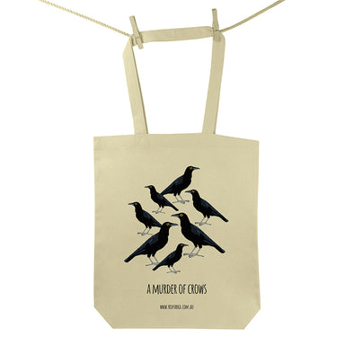 Murder of Crows Tote Bag