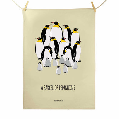 Parcel of Penguins Tea Towel