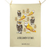 Parliament of Owls Tea Towel