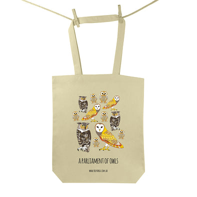 Parliament of Owls Tote Bag