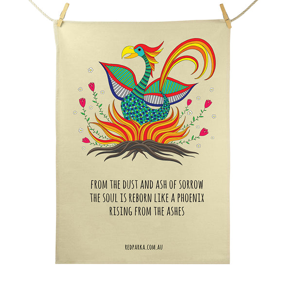 Phoenix Rising Tea Towel