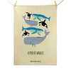 Pod of Whales Tea Towel