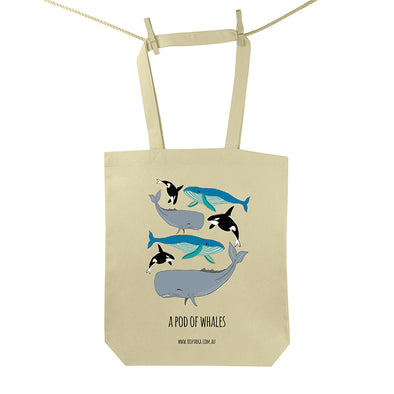 Pod of Whales Tote Bag