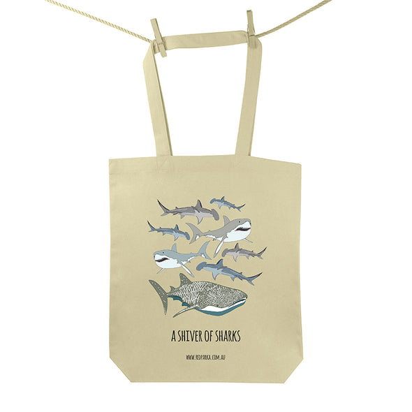 Shiver of Sharks Tote Bag