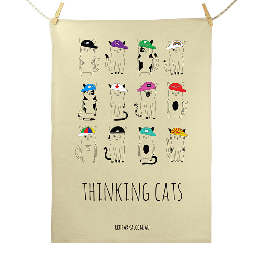 RP - Thinking Cats Tea Towel