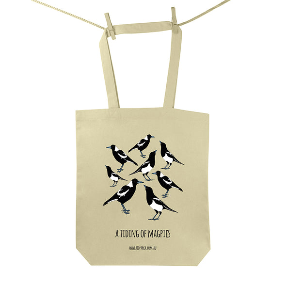Tiding of Magpies Tote Bag