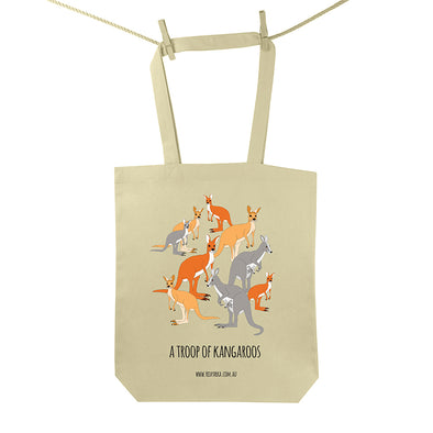 Troop of Kangaroos Tote Bag