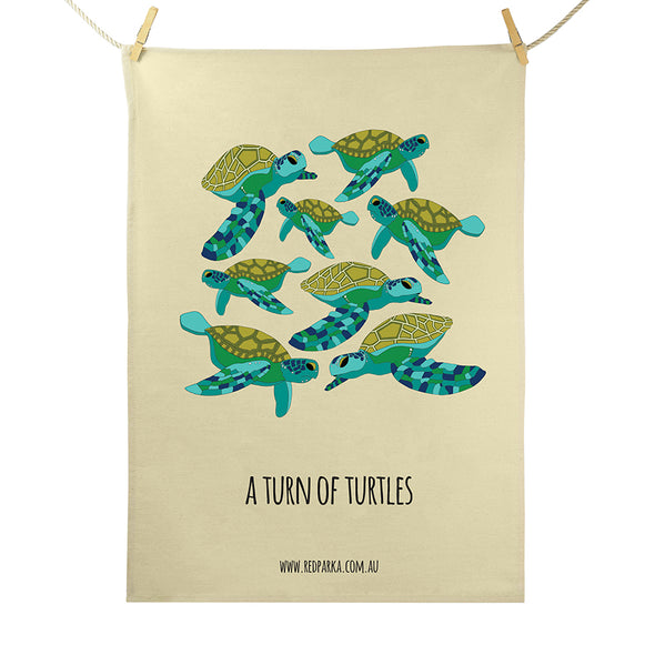 Turn of Turtles Tea Towel