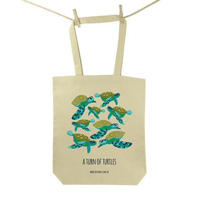 Turn of Turtles Tote Bag