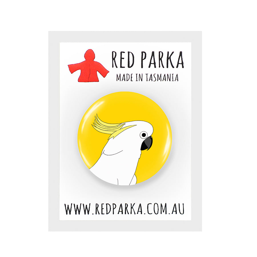 RP - Cockatoo Badge - 25mm YELLOW