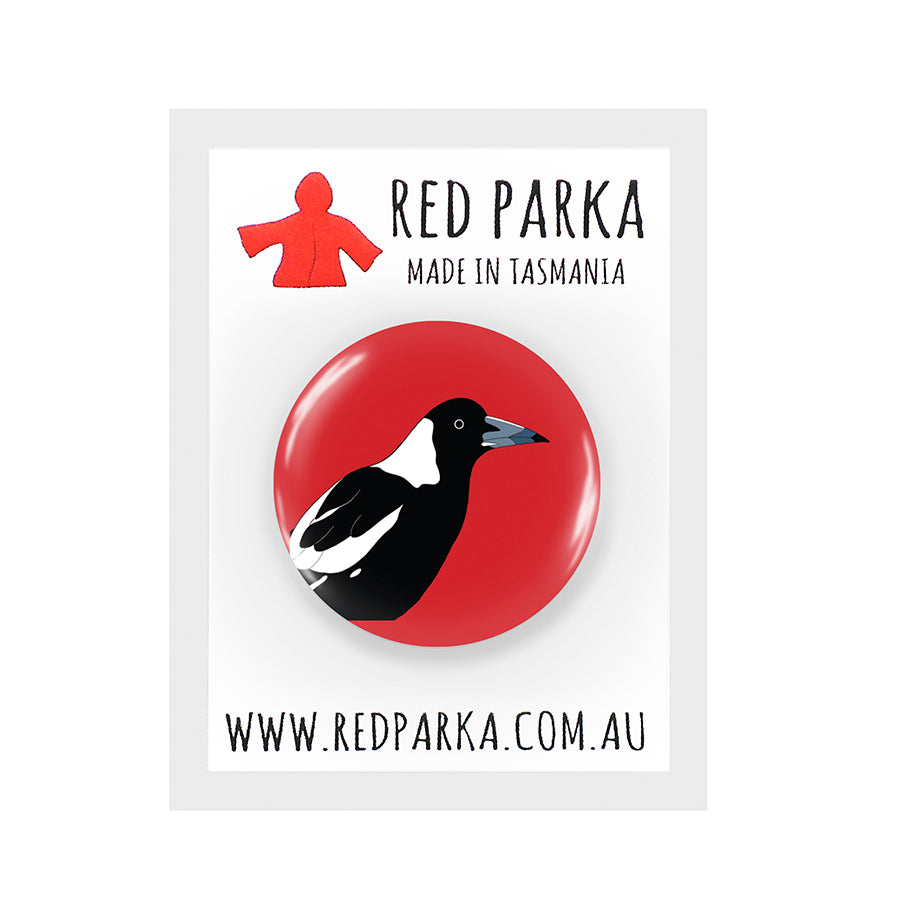RP - Magpie Badge - 25mm RED