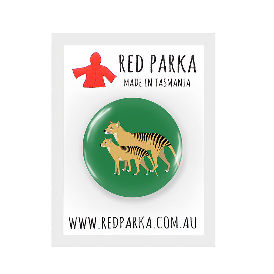 RP - Tassie Tiger Badge - 25mm DARK GREEN