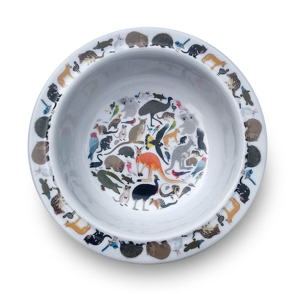 Melamine Bowl - Australian Animals